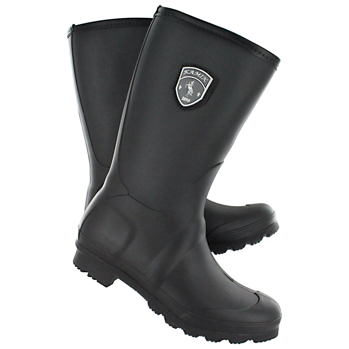 Lds Jenny blk mid rain boot