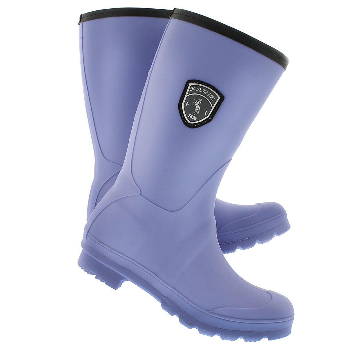 Lds Jenny periwinkle mid rain boot