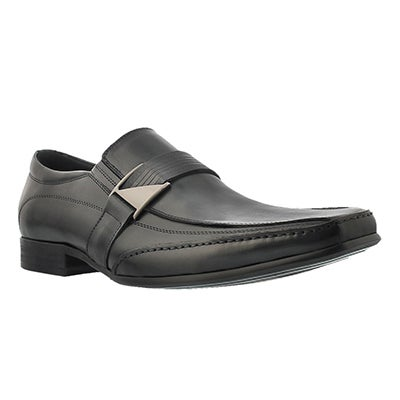 Mns Jerry black slip on dress shoe