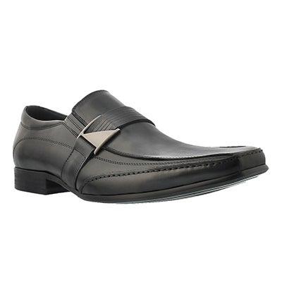 Mns Jerry black slip on dress shoe