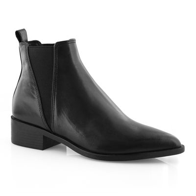 Lds Jerry blk slip on chelsea boot