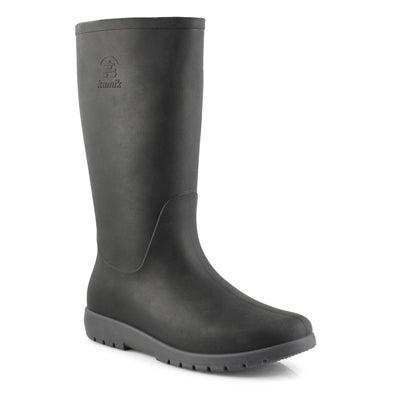 Lds Jessie blk/char mid wtpf rain boot