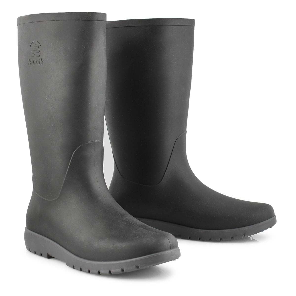 0b52a1d8897 Women's JESSIE blk/char mid waterproof rain boots