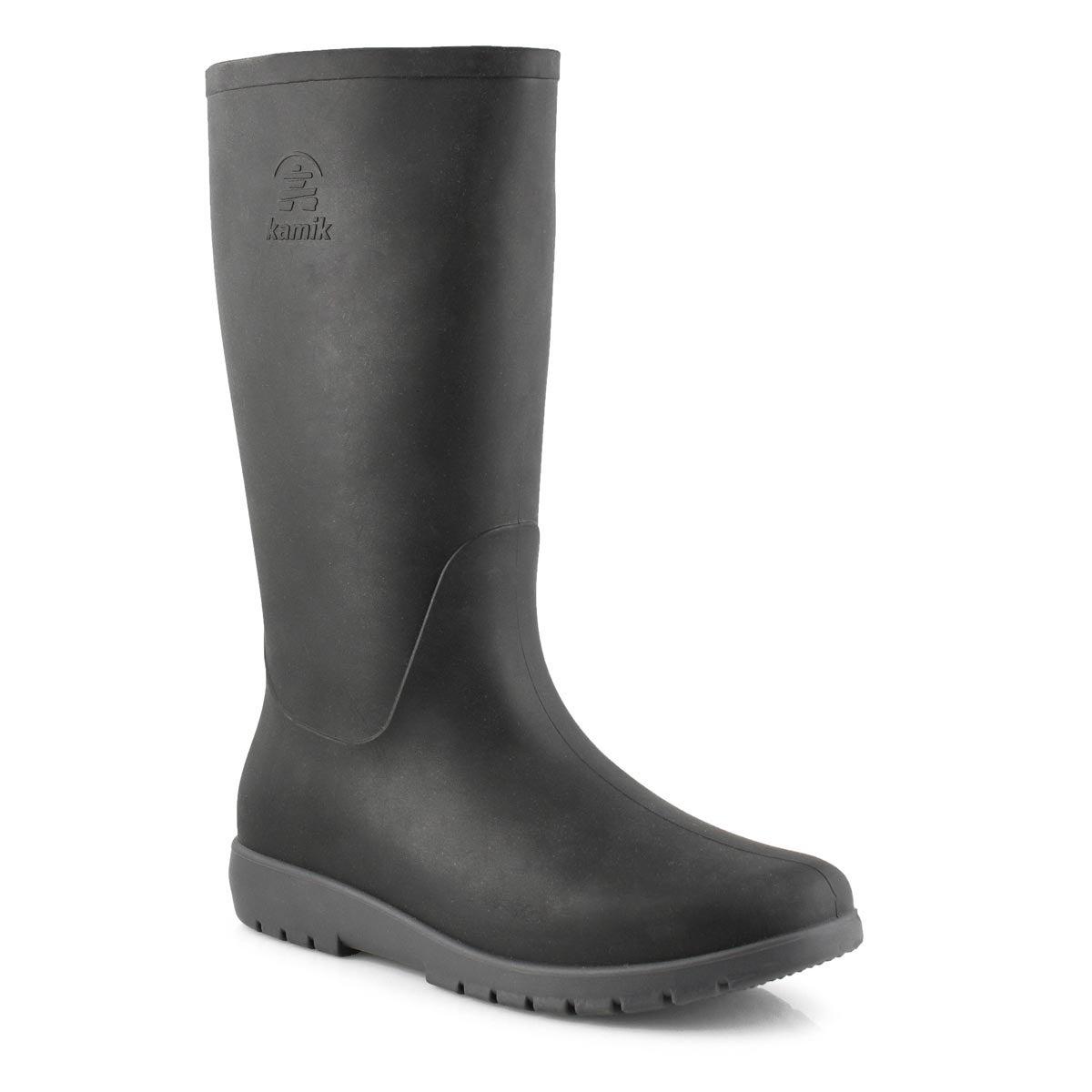 Women's JESSIE blk/char mid waterproof rain boots