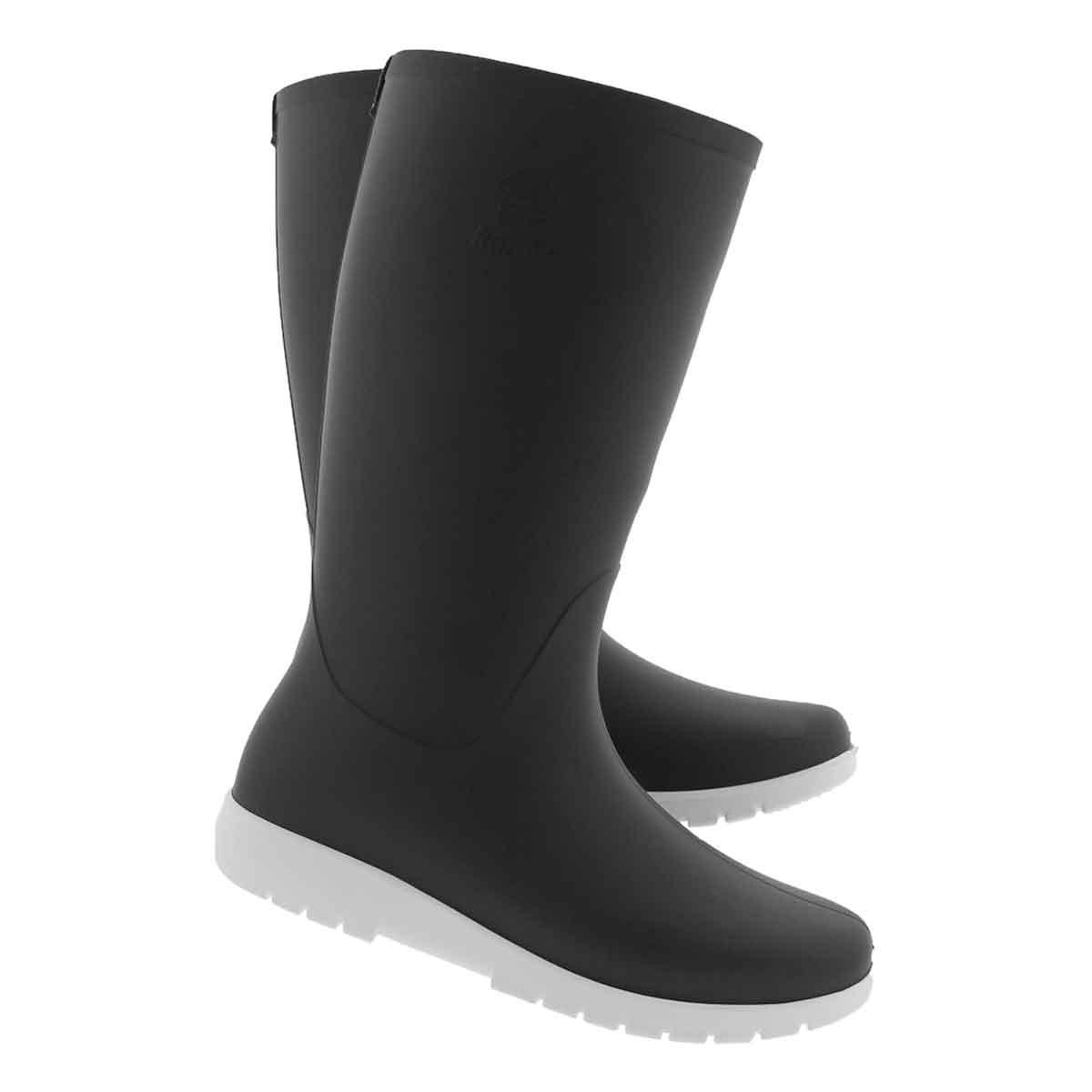 Lds Jessie blk/wht mid wtpf rain boot