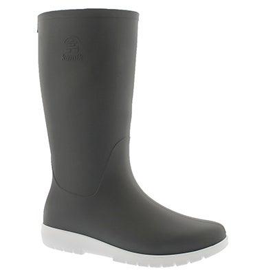 Lds Jessie charcoal mid wtpf rain boot
