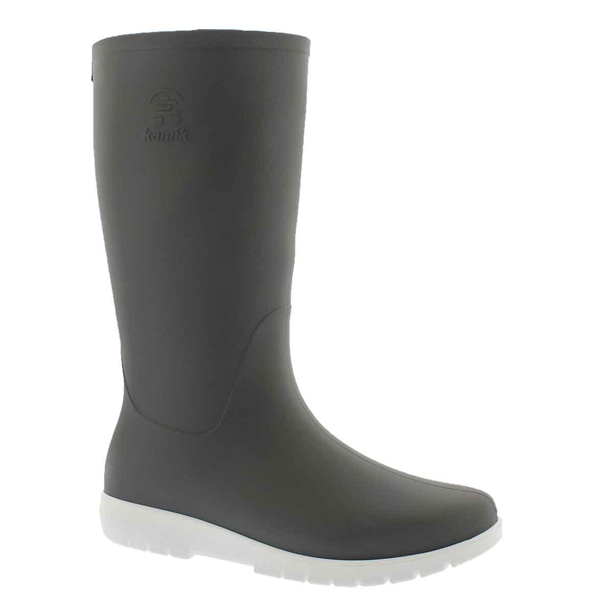 Women's JESSIE charcoal mid waterproof rain boots
