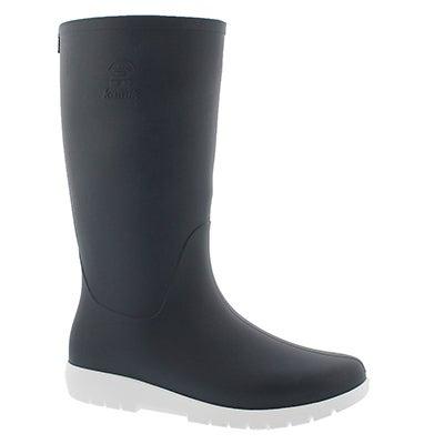 Lds Jessie navy mid wtpf rain boot