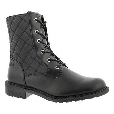Lds Jessy black quilted wtrpf boot