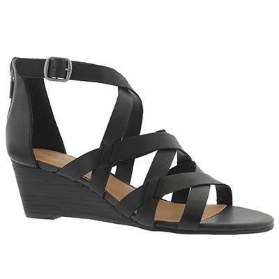 Lds Jewelia black wedge sandal