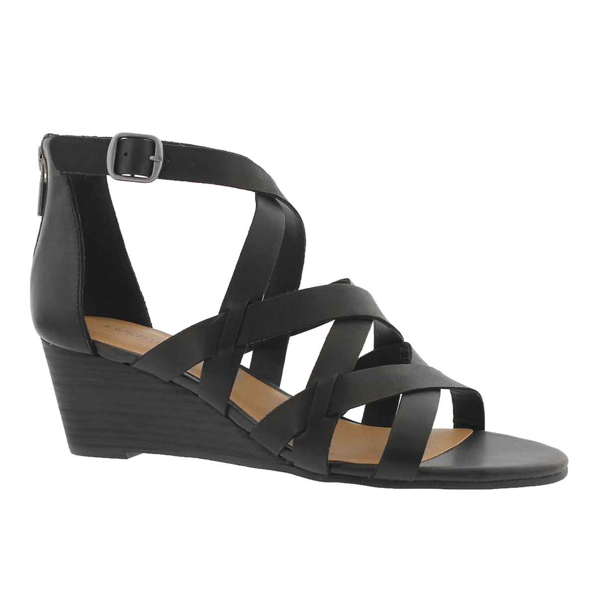 Lds Jewelia black wedge sandal