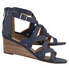 Lds Jewelia indigo wedge sandal