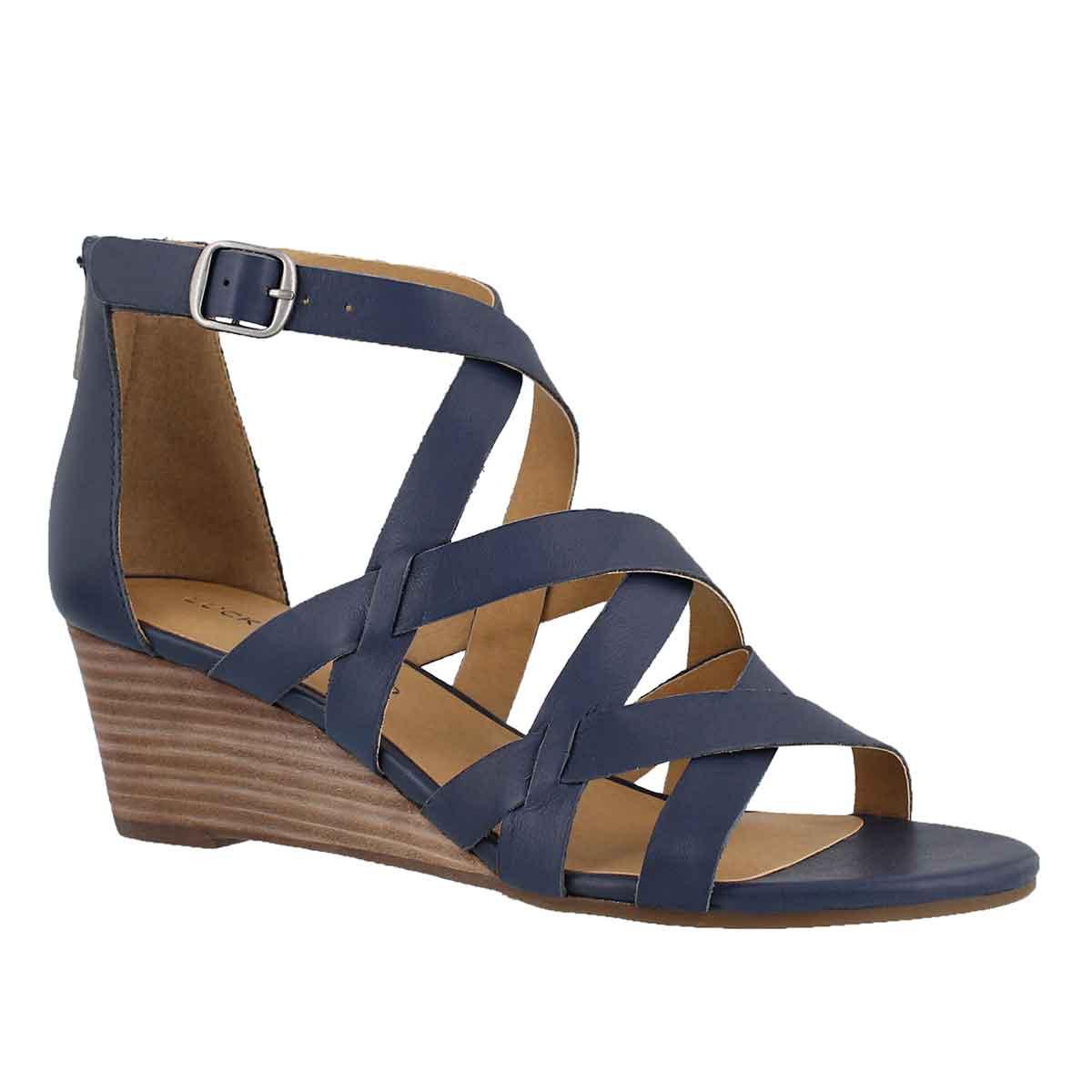 Women's JEWELIA indigo wedge sandal