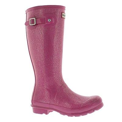 Grls Original Glitter fuchsia rain boot