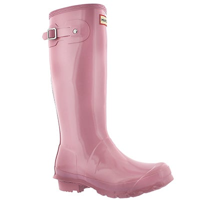 Hunter Girls' ORIGINAL GLOSS fondant pink rain boots