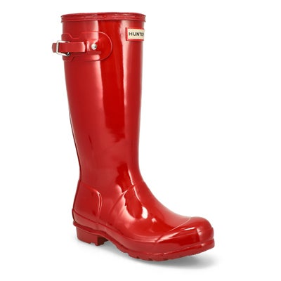 Hunter Girls' ORIGINAL GLOSS military red rain boots