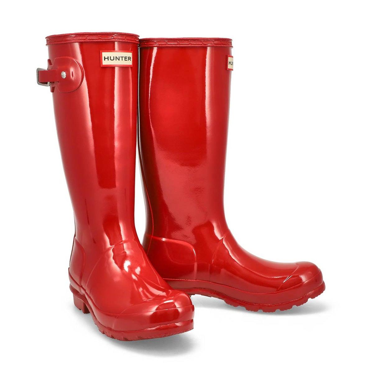Grls Original Gloss miltry red rain boot