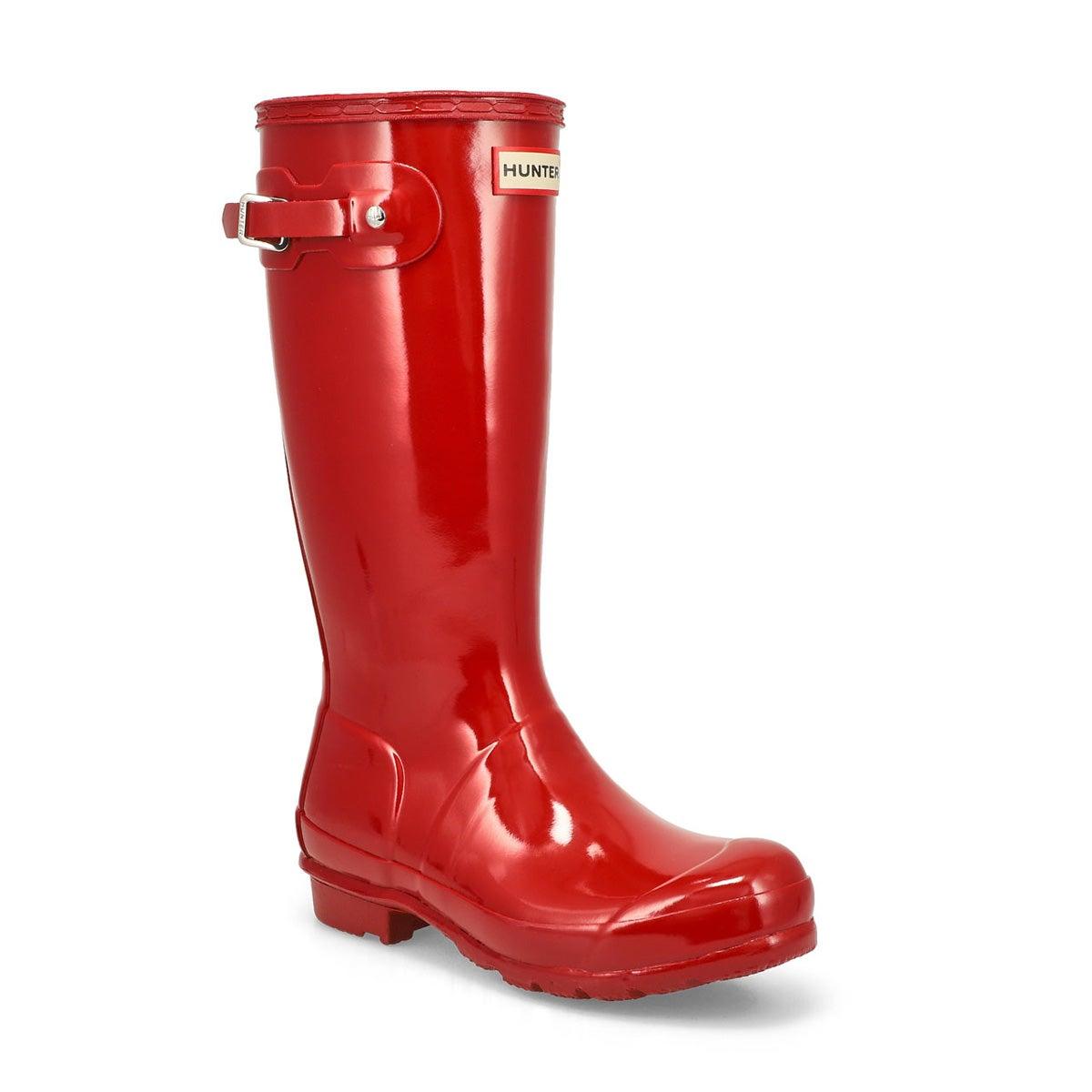 Girls' ORIGINAL GLOSS military red rain boots