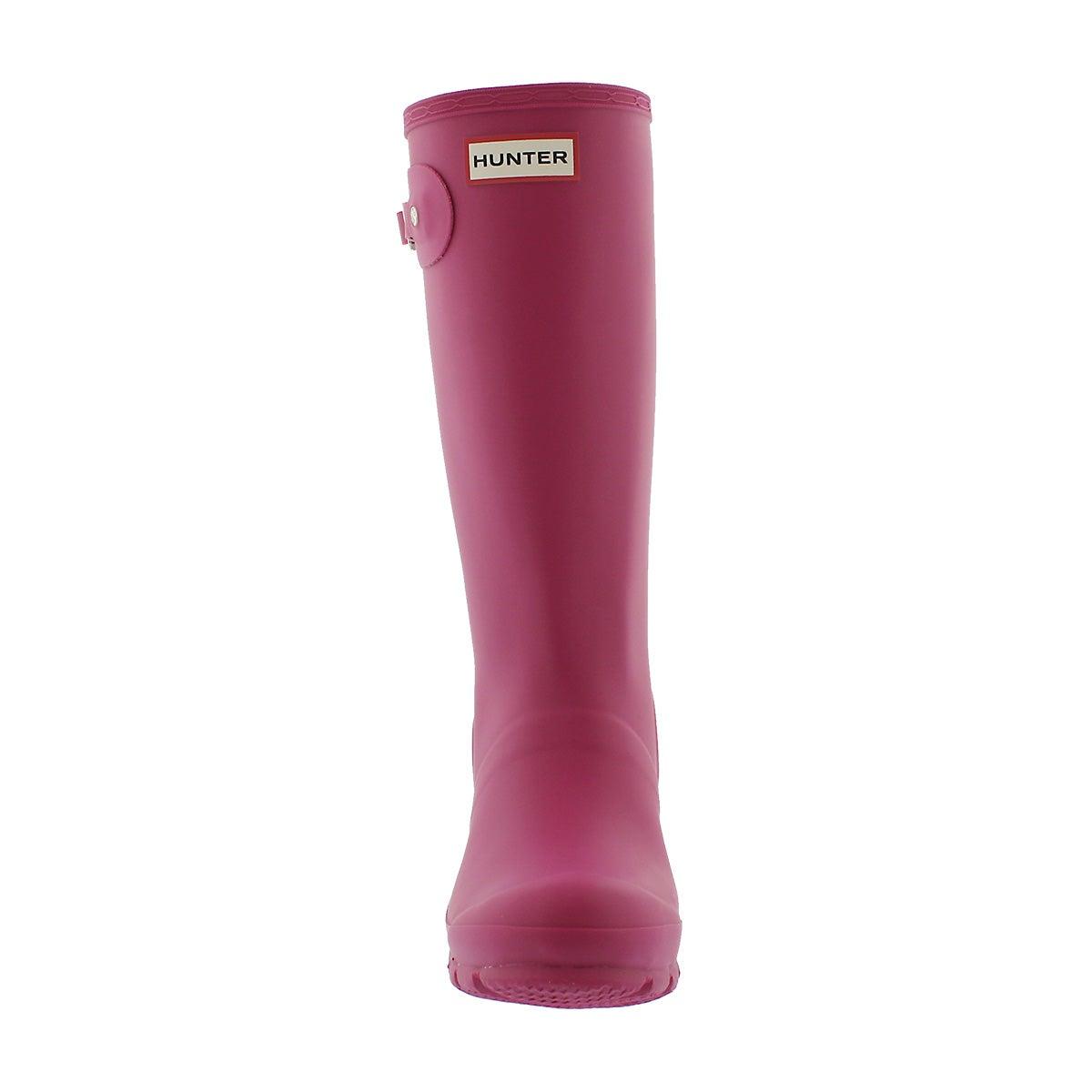 Grls Original Young iron pink rain boot