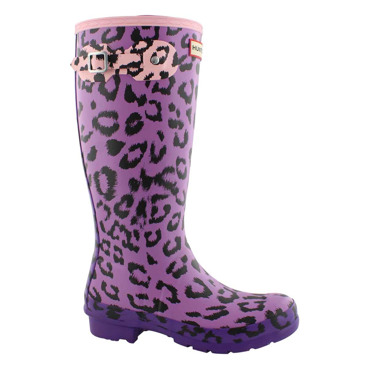 Grls OriginalLeopardPrint mlti rain boot