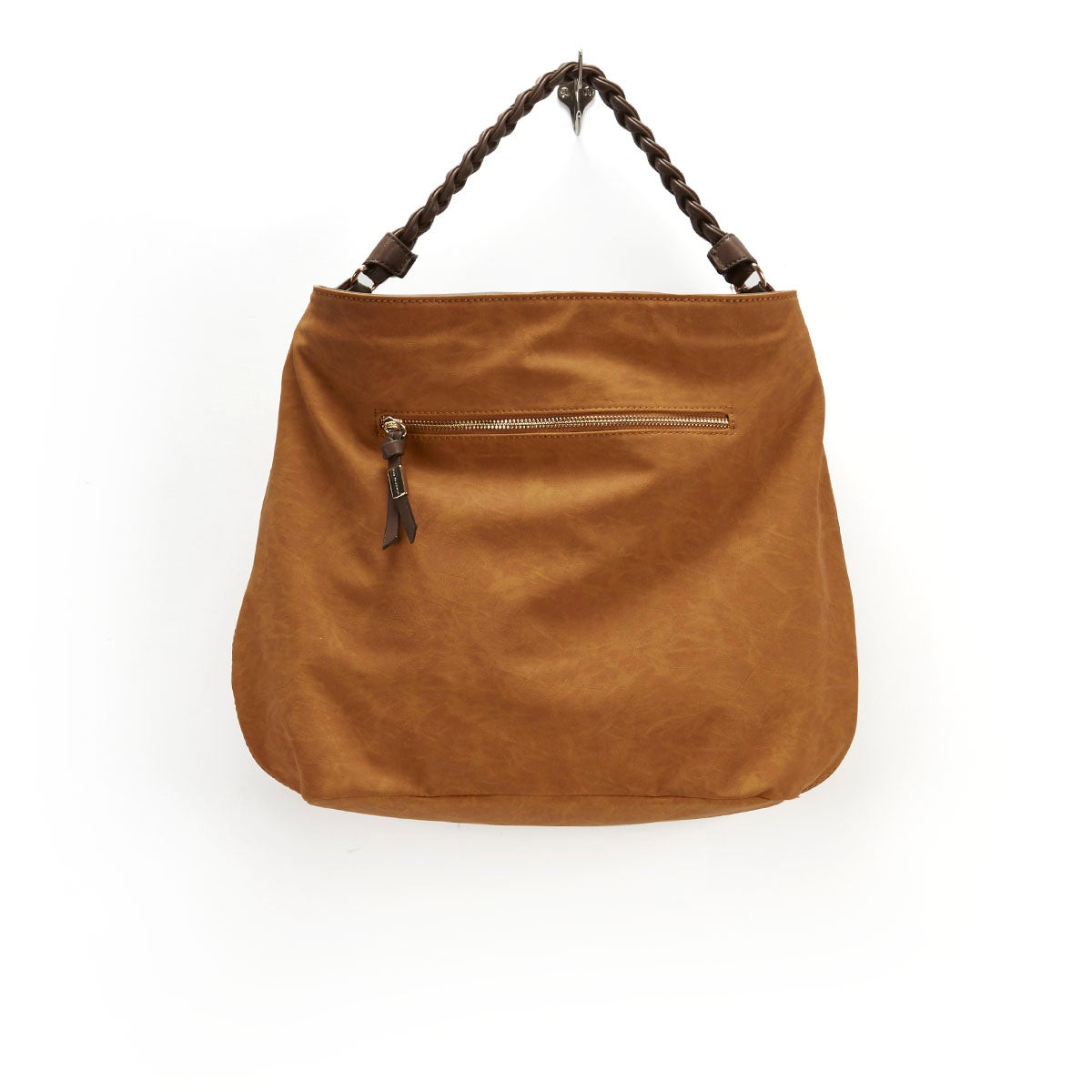 Lds JJaide tan laser cut hobo bag