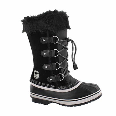 Grls Joan Of Arctic blk/oyst winter boot