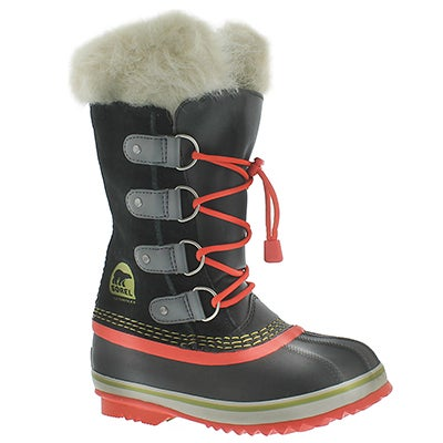 Sorel Girls' JOAN OF ARCTIC JR black winter boots