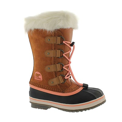 Grls Joan Of Arctic caramel winter boot