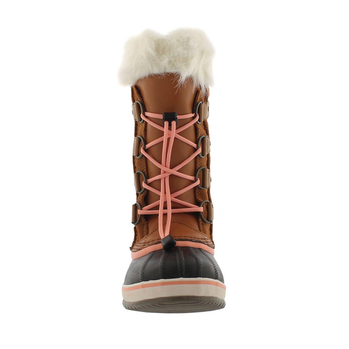 Grls Joan Of Arctic caramel winter boot