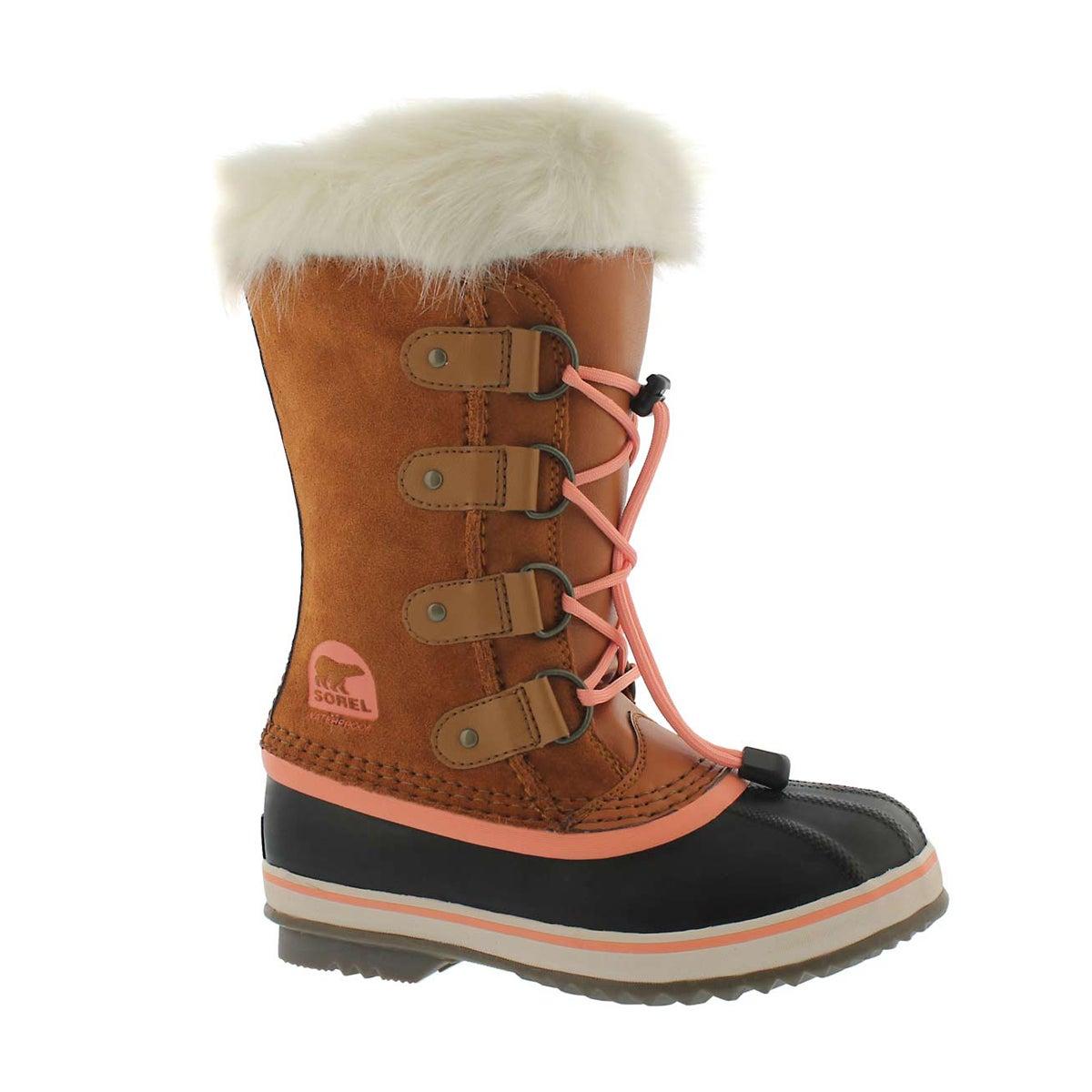 Girls' JOAN OF ARCTIC caramel winter boots