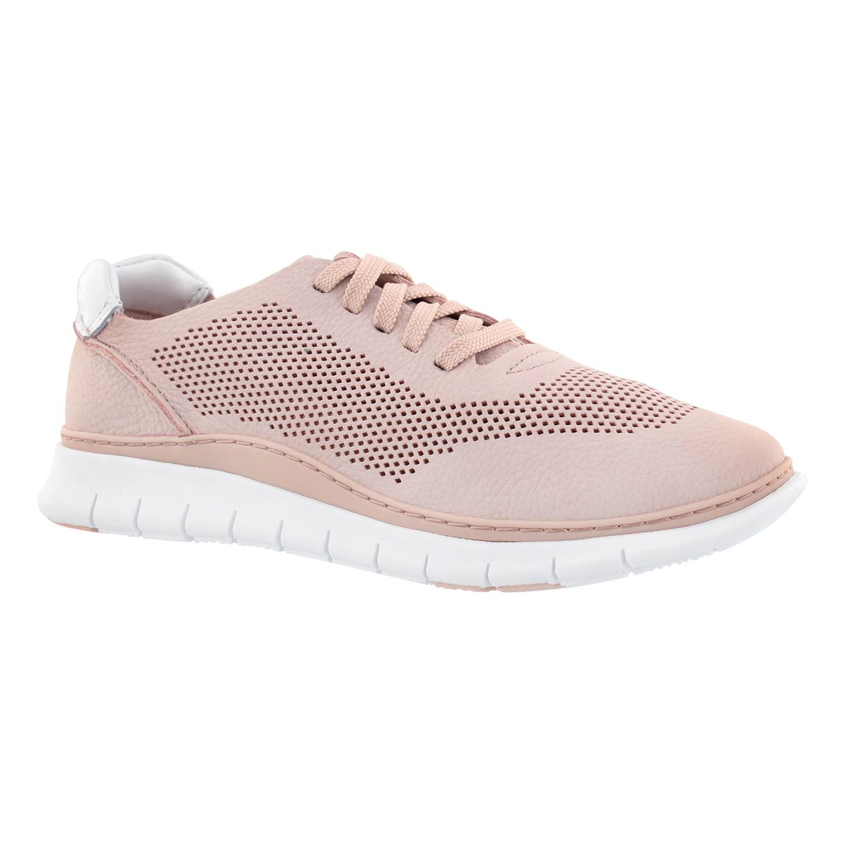 Women's JOEY dusty pink lace up sneakers