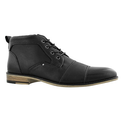 Bottines Johnny. lacets, noir, hommes
