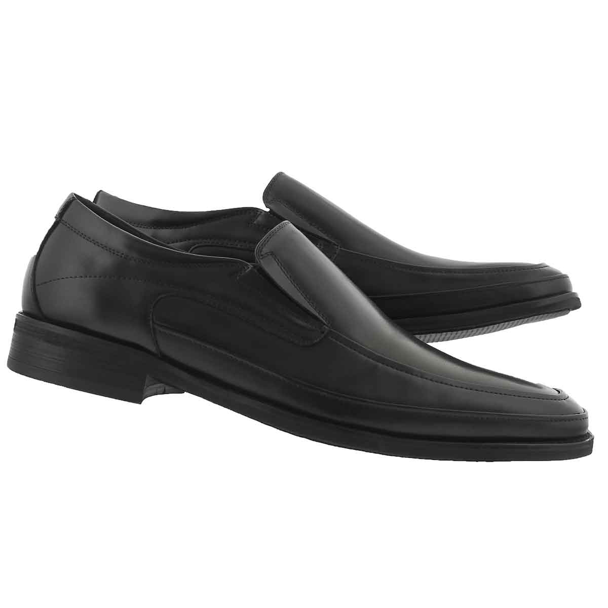 Mns Joseph black slip on dress shoe