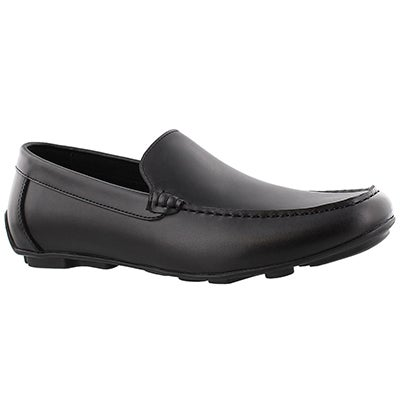 SoftMoc Men's JOSH black slip on dress loafers