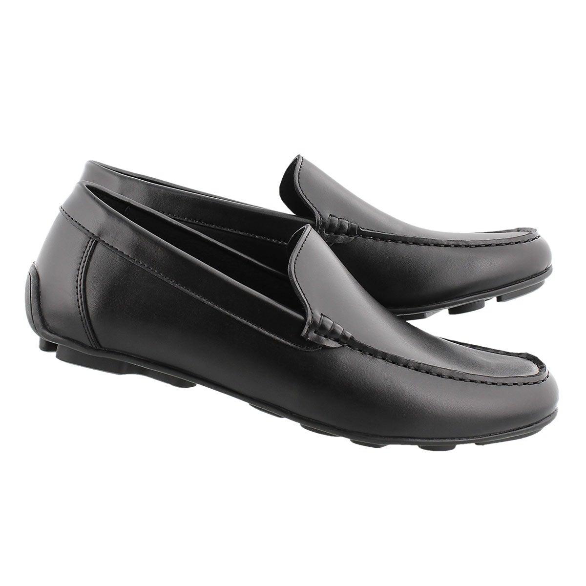 Mns Josh black slip on dress loafer