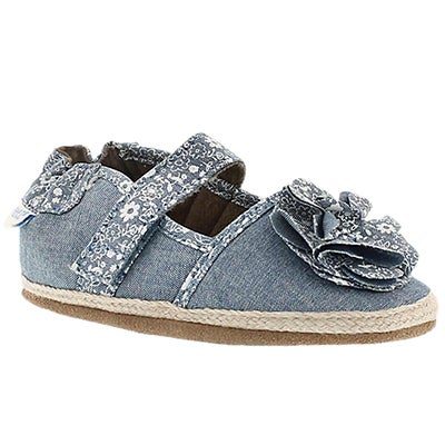 Inf Jourdan Espadrille blu soft slipper