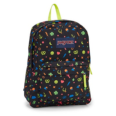 Jansport Superbreak neon charms backpack