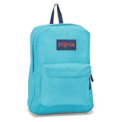Jansport Superbreak peacock blu backpack