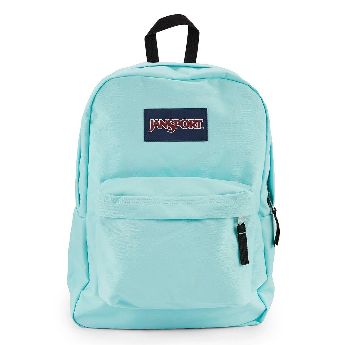 Lds Jansport Superbreak aqua backpack