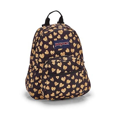 Jansport Half Pint gltr hearts backpack