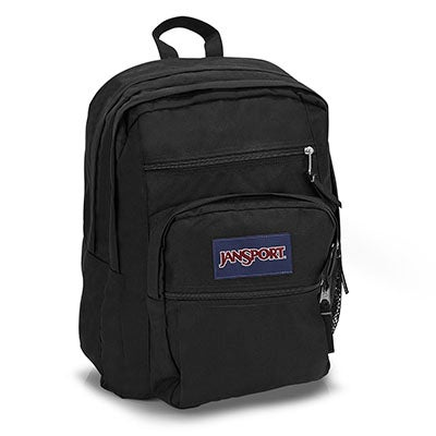 JanSport Unisex BIG STUDENT black backpack