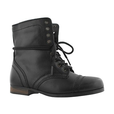 Grls J Troopa black combat boot
