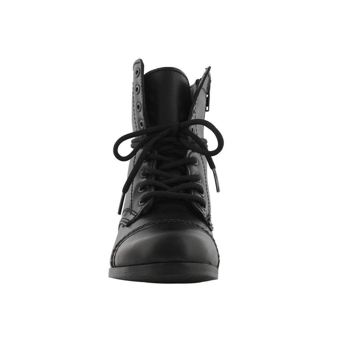 Grls J Troopa black combat boot
