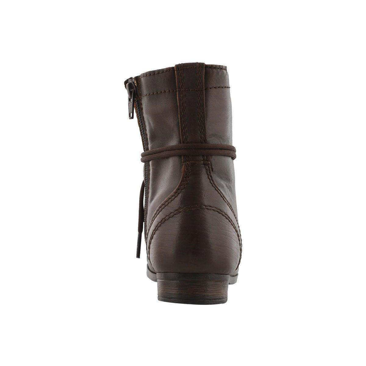 Grls J Troopa cognac combat boot