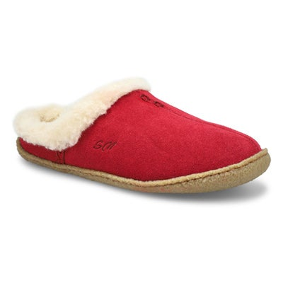 Lds Jupiter burgundy open back slipper