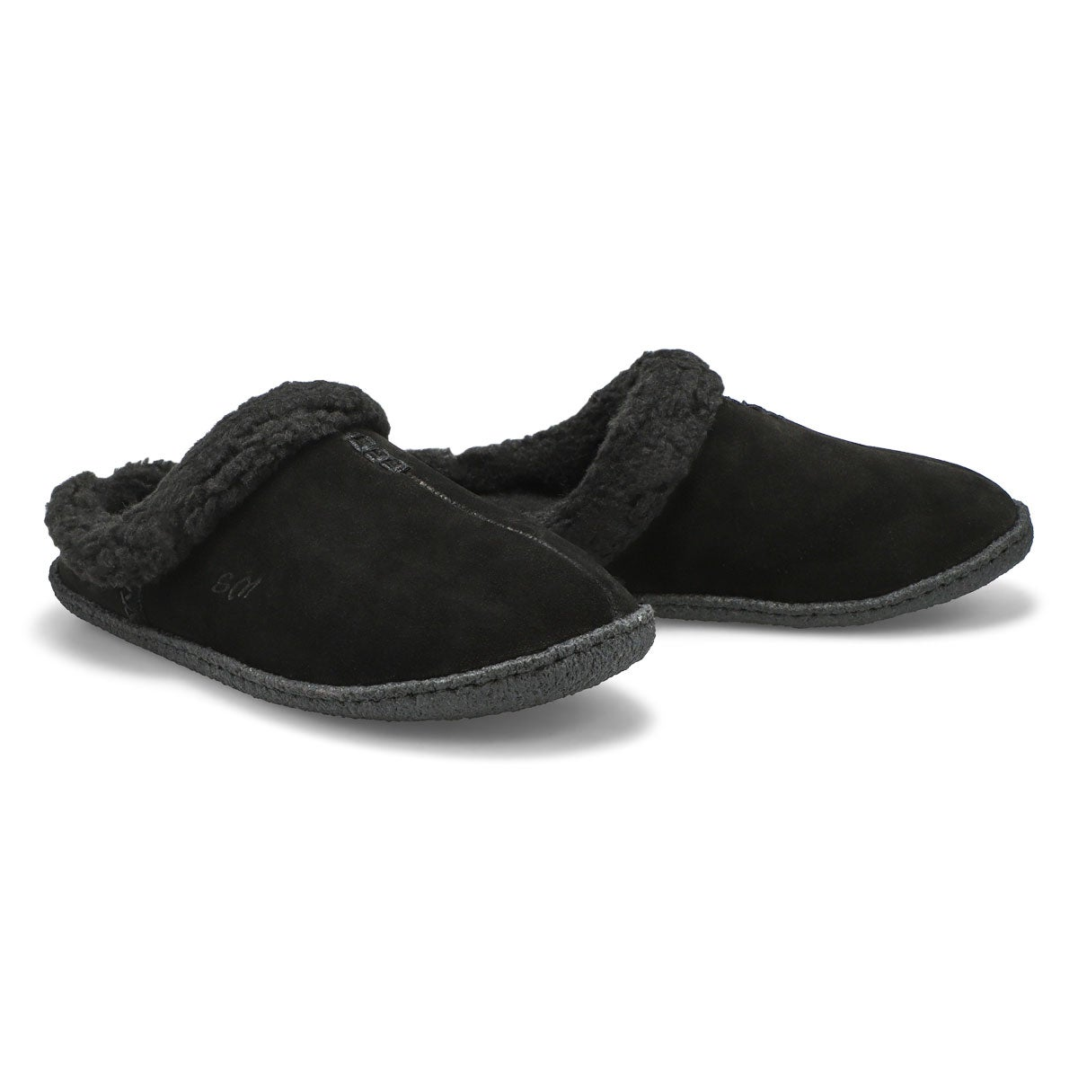 Lds Jupiter bk/bk open back slipper