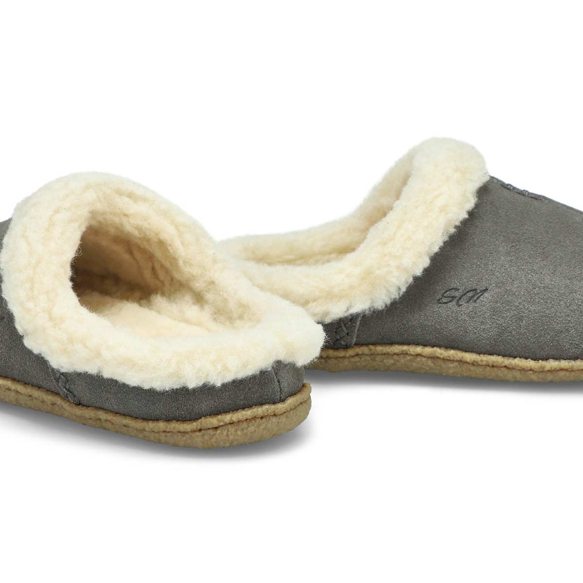 Lds Jupiter grey open back slipper
