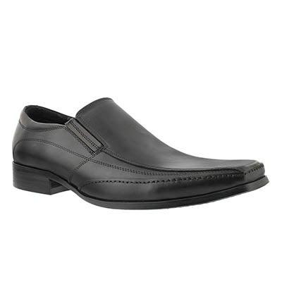 Mns Justin black slip on dress shoe