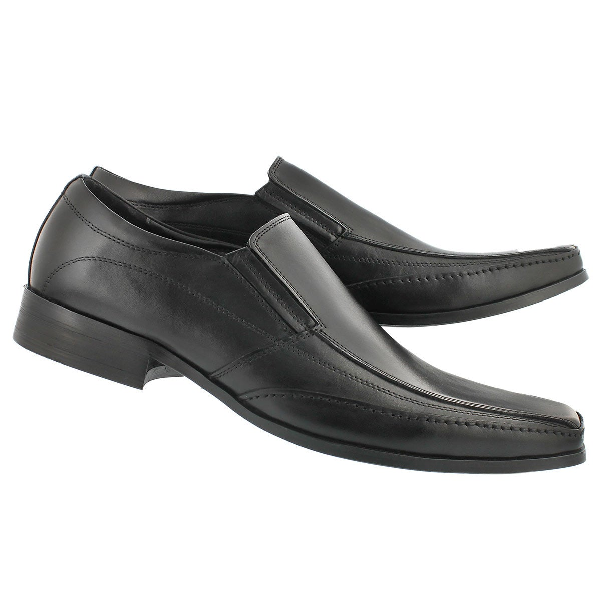 Mns Justin black slip on dress shoe
