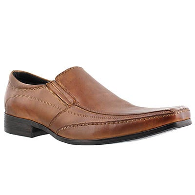 SoftMoc Men's JUSTIN cognac leather slip-on dress shoes